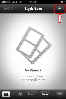 Camera+ 外部写真のインポート