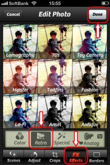 Camera+ エフェクト