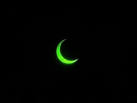 金環日食 7時23分