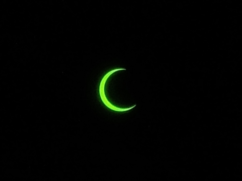 金環日食 7時27分