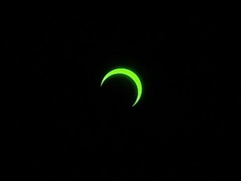 金環日食 7時38分
