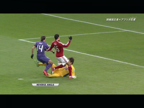 デジタルTVチューナーでTVを見る iPad3 サッカー
