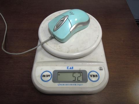 有線USBレーザーマウスの重さ