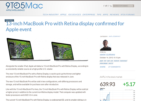 13-inch MacBook Pro with Retina display confirmed for Apple event - 9to5Mac