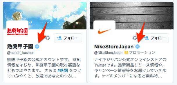 Twitter認証済みアイコン入りアカウント