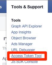 Access Token Tool - Facebook Developers