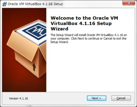 VirtualBox インストール01
