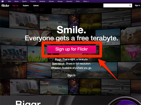Flickrログイン