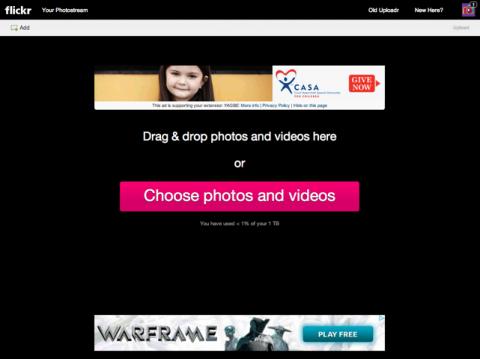 Flickrに写真やビデオをアップロードする