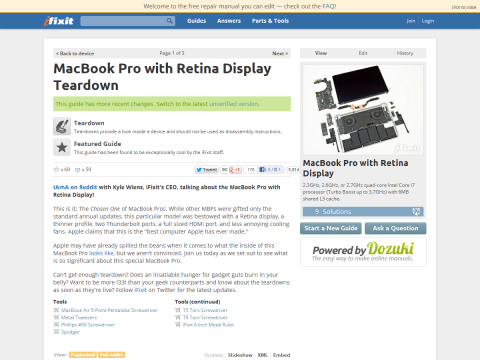 MacBook Pro with Retina Display Teardown