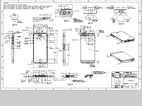 iPhone5外形寸法図