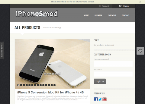 iPhone 5 Conversion Mod Kit for iPhone 4 / 4S