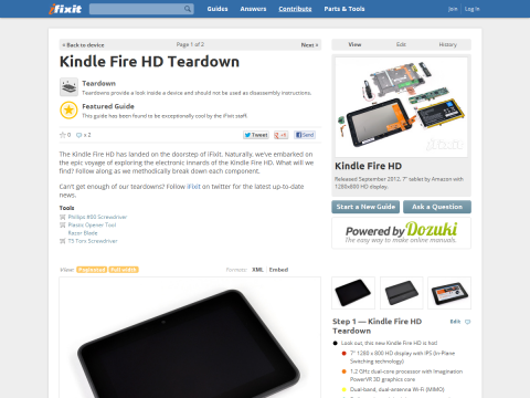Kindle Fire HD Teardown - iFixit