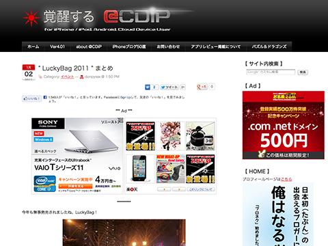 """"""" LuckyBag 2011 """" まとめ - 覚醒する @CDiP"""