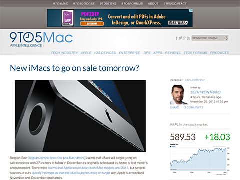 New iMacs to go on sale tomorrow- - 9to5Mac