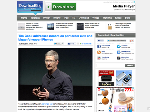 Tim Cook addresses rumors on part order cuts and bigger/cheaper iPhones - iDownloadBlog