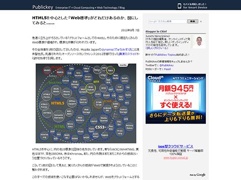 HTML5を中心とした「Web標準」がどれだけあるのか、図にしてみると…… - Publickey