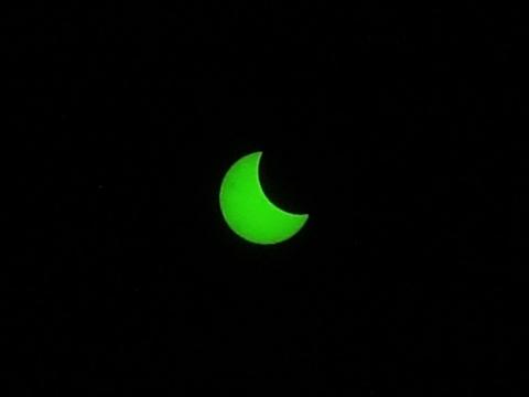 金環日食 6時55分