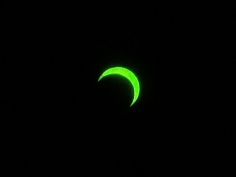 金環日食 7時43分