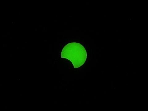 金環日食 8時34分
