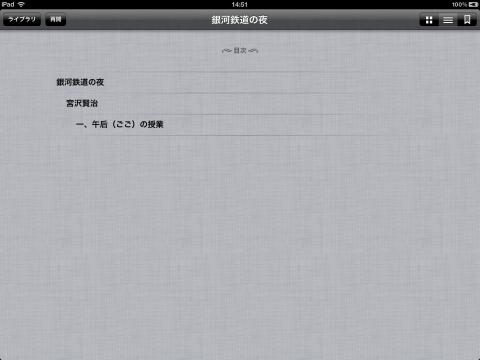 表示の確認02 iBooks - iPad