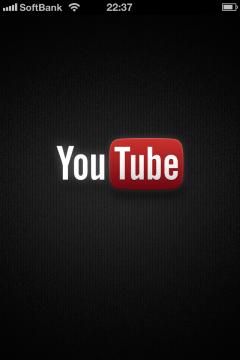 YouTubeアプリ起動画面