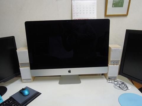 27インチiMac設置完了