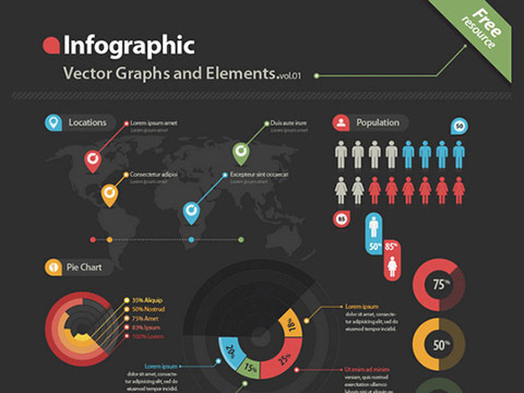 Free download: Infographic Vector Kit