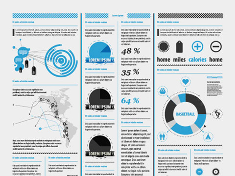 Set of chart and Infographics design elements vector 07