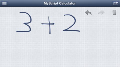 MyScript Calculator 計算例 たし算入力