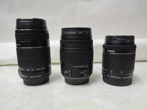 標準レンズ2本とSIGMA 18-250mm