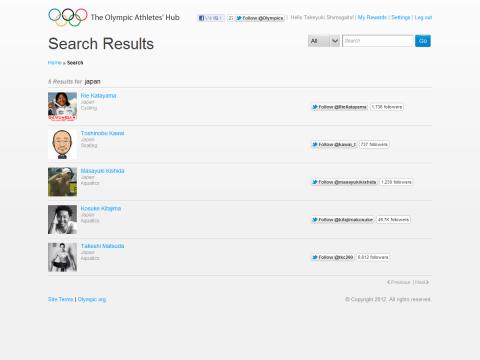 Olympic Athletes 日本選手