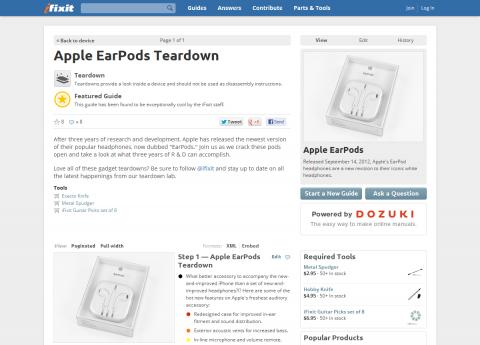 Apple EarPods Teardown - iFixit