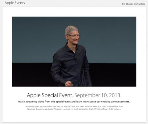 Apple Keynote 20130910