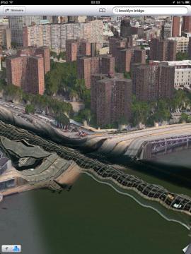 ブルックリン橋が途中で切れている