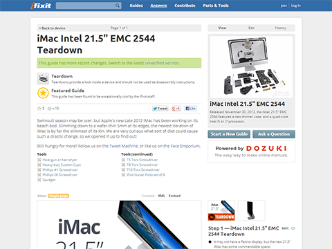 iMac Intel 21.5- EMC 2544 Teardown - iFixit