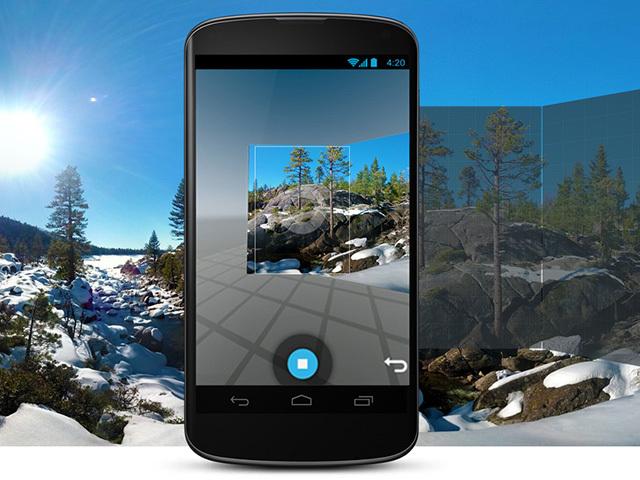 動く360度パノラマ写真を埋め込み可!Google「Photo Sphere Camera」