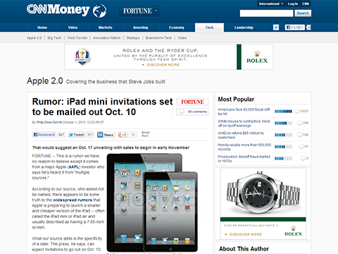 Rumor: iPad mini invitations set to be mailed out Oct. 10