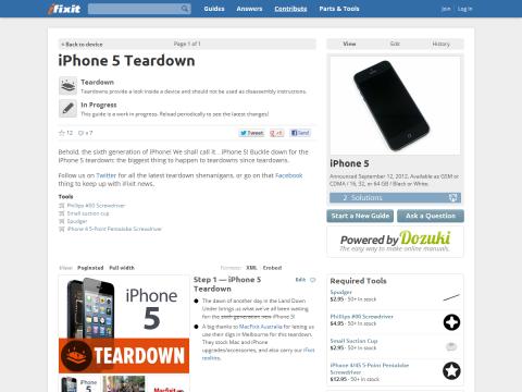 iPhone 5 Teardown - iFixit