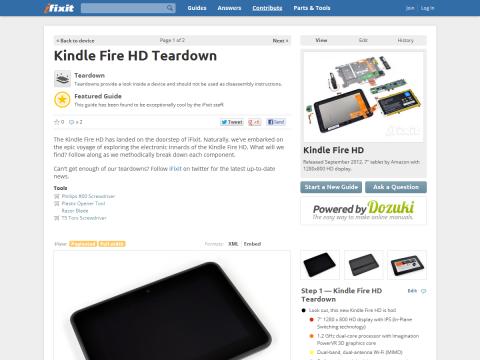 Kindle Fire HD Teardown - iFixit