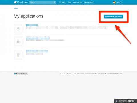My applications - Twitter Developers