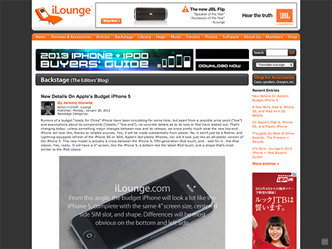 New Details On Apple's Budget iPhone 5 - iLounge