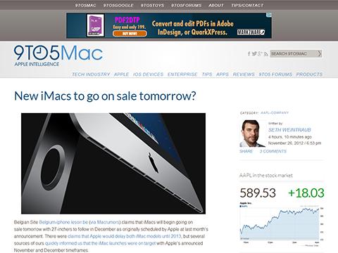 New iMacs to go on sale tomorrow- - 9to5Mac