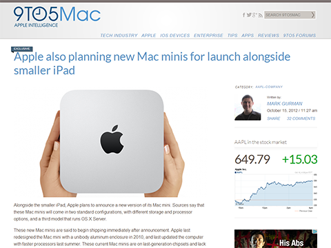 Apple also planning new Mac minis for launch alongside smaller iPad - 9to5Mac