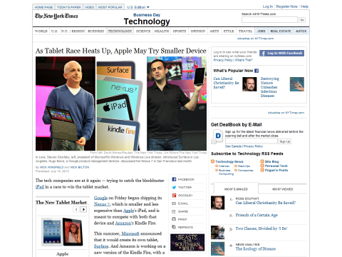 Apple May Meet Tablet Competition With a Smaller iPad - NYTimes.com