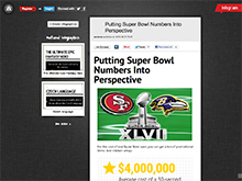 Putting Super Bowl Numbers Into Perspective