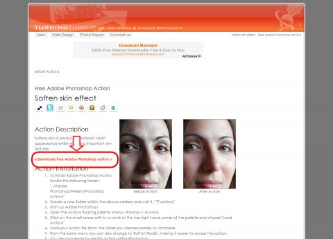 Soften skin effect - Free Adobe Photoshop Actions