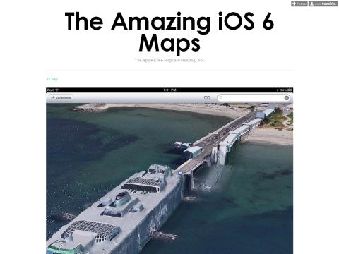 The Amazing iOS 6 Maps