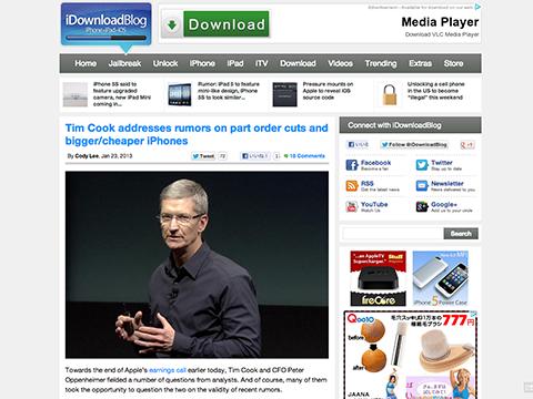 Tim Cook addresses rumors on part order cuts and bigger/cheaper iPhones - iDownloadBlog
