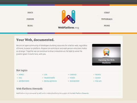 Your Web, documented - WebPlatform.org